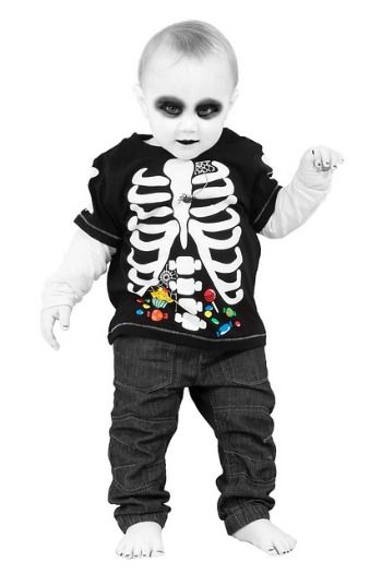 bb3f5143ebd7 30 Book Character Costumes – Ideas From Literature   Baby Goth Skeleton   costumes  halloween  kidcostumes