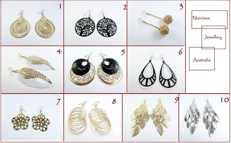 Vintage Silver Gold Tone Thin Dangle Earrings Women