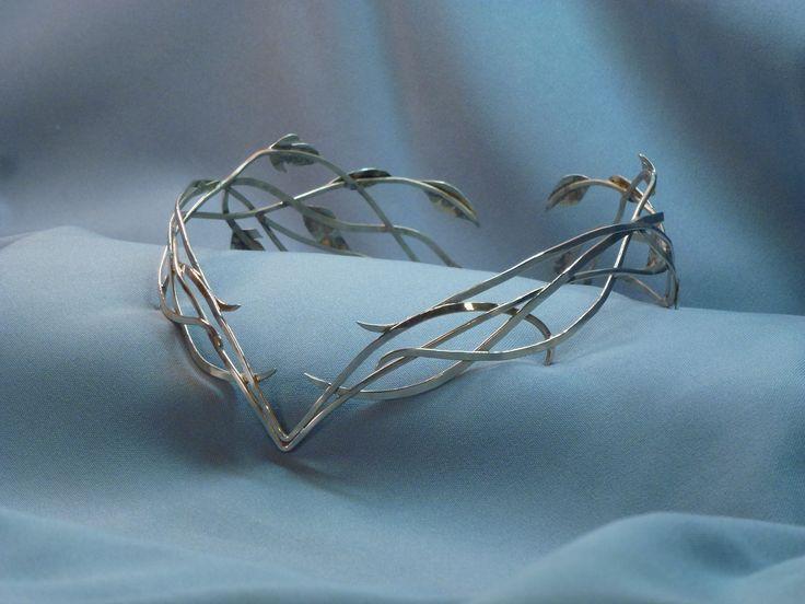 Celtic circlet, Elven Elvish Headpiece, Renaissance Medieval Headdress Tiara, LOTR Arwen Galadriel diadem