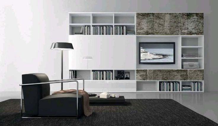 PRESOTTO Pari \ Dispari bookcase with matt bianco candido - bucherregal systeme presotto highlight wohnraum