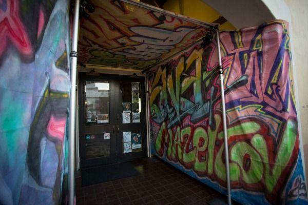 Graffiti Bat Mitzvah Party Entrance Kelsey Crews Photo