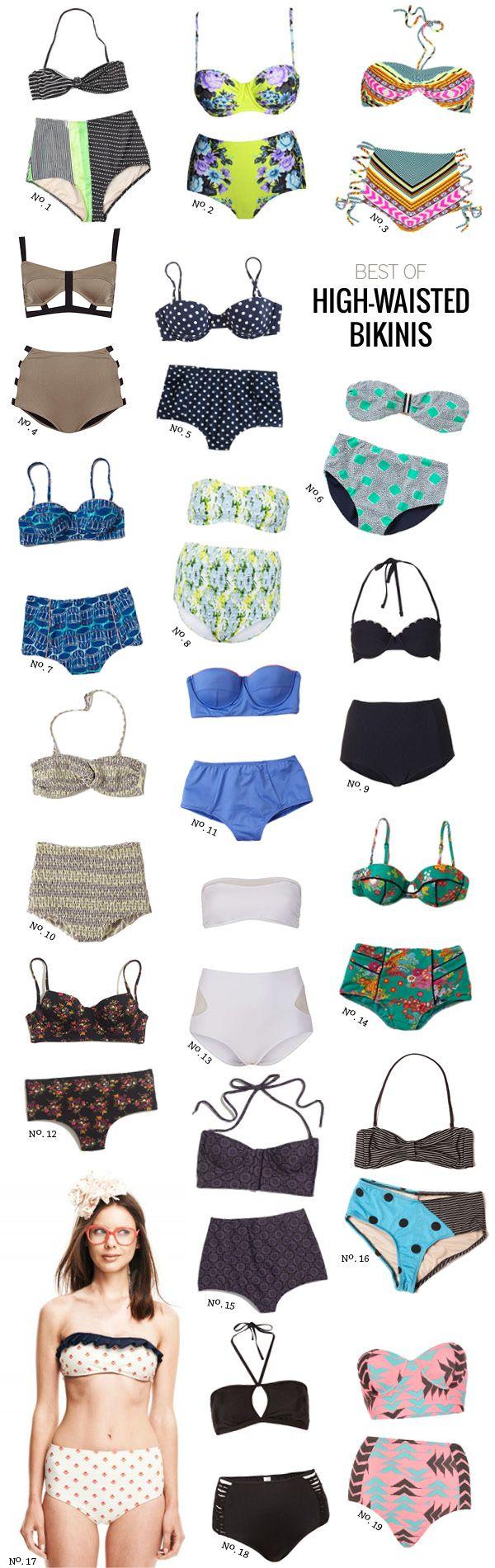I am loving the high waisted bikinis this season....  Best Of: High-Waisted Bikinis by Modern Eve
