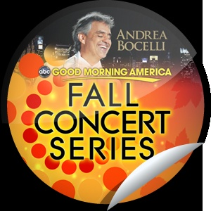 Andrea Bocelli on GMA on December 6!: Gma, 7Am Abc, Getglue Com, December 19, Good Mornings America, Getglu Com, America 7Am, Awesome Stickers, Good Morning America
