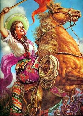 """La Adelita"" in Mexico has become an archetype of a woman warrior during the Mexican Revolution. An Adelita was a soldadera, or woman soldier, who not onlycooked and cared for the wounded but also actually fought in battles against Mexican government forces."