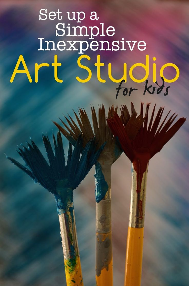Setting up a Simple, Inexpensive Art studio for Kids (Art Studio Diaries #3)
