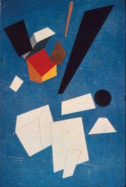 Suprematist composition 1915 oil on canvas. Ivan Puni was a Russian avant-garde artist (Suprematist, Cubo-Futurist). In 1915 Puni together with the group of avant-garde artists (Aleksandra Ekster, Liubov Popova, Ivan Kliun, Ksenia Boguslavskaya, Olga Rozanova, Nadezhda Udaltsova, Nina Genke and others) joined Supremus, a group led by the founder of Suprematism Kazimir Malevich. In 1915-1916 Puni, together with other suprematist artists, worked at Verbovka Village Folk Centre.