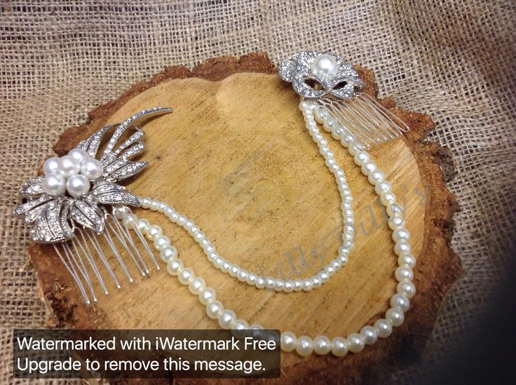 Handmade bespoke couture bridal hair pieces from Lilly Dilly's x #bride #wedding #accessories #hair #vintage #pearls #diamantes #unique #bespoke #couture #slide