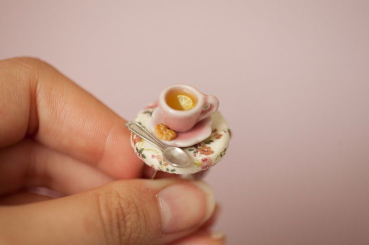 Lemon Tea Cup miniature table Ring / dollhouse miniature / romantic vintage jewelry / nostalgic ring / food jewelry / fake food / mini food by Ilianne on Etsy https://www.etsy.com/listing/271503995/lemon-tea-cup-miniature-table-ring