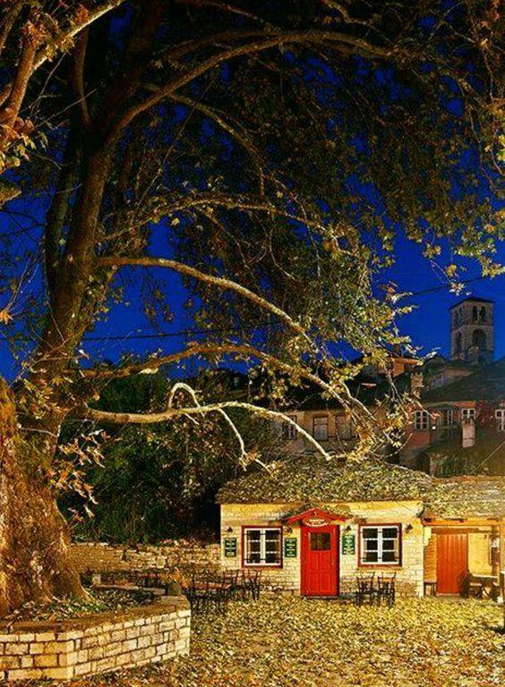 autumn colours in Dilofo - Zagoria, Epirus, Greece