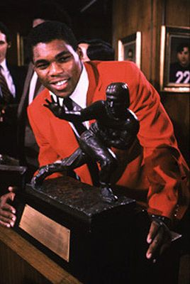 Herschel Walker, the greatest running back in football history. Three time All American (first freshman in NCAA history to receive that honor). Led the Georgia Bulldogs to three SEC championships and one National Title. He was also the winner of the 1982 Heisman Trophy.