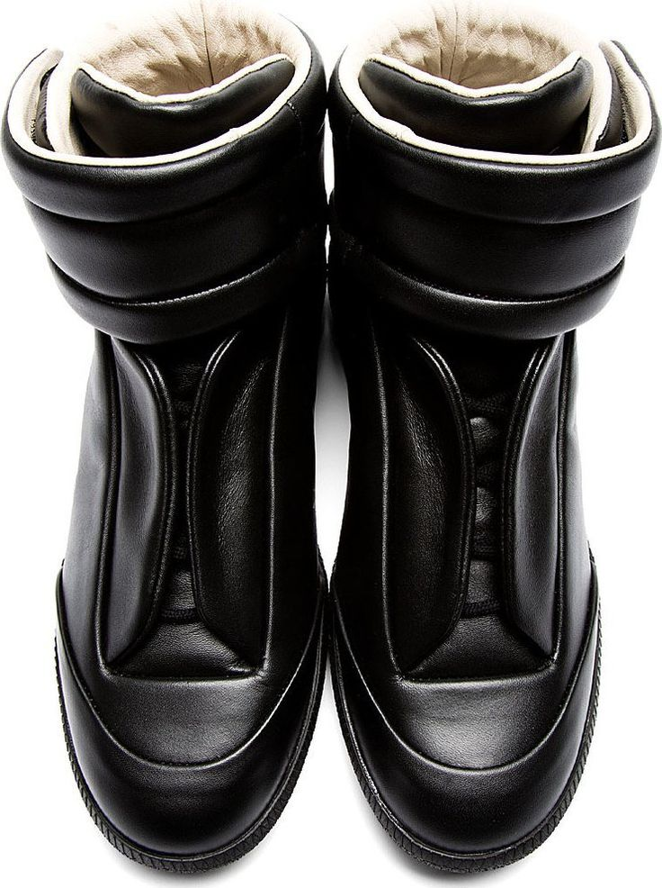Maison Martin Margiela: Black Future High-Top Sneakers
