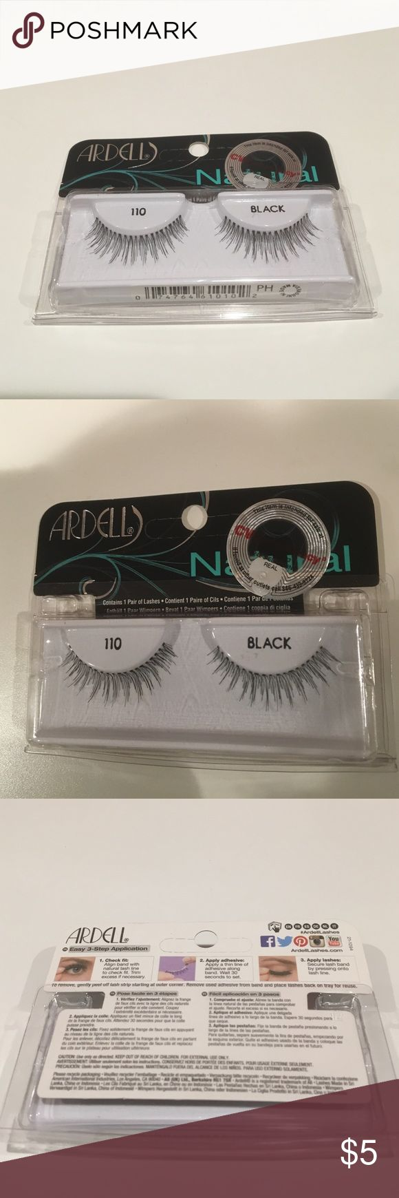 FINAL SALE🎊$9 for 2 🎊Ardell eyelash 110 black Ardell eyelash 110 black. Bought it from CVS. Brand new with tag. I bought too many packs so had some packs left over. Ardell Makeup False Eyelashes