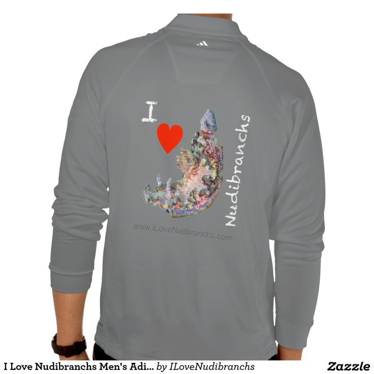 I Love Nudibranchs Men's Adidas Training Pullover #nudibranch #iLoveNudibranchs #Fleece #Jacket #Adidas @zazzle