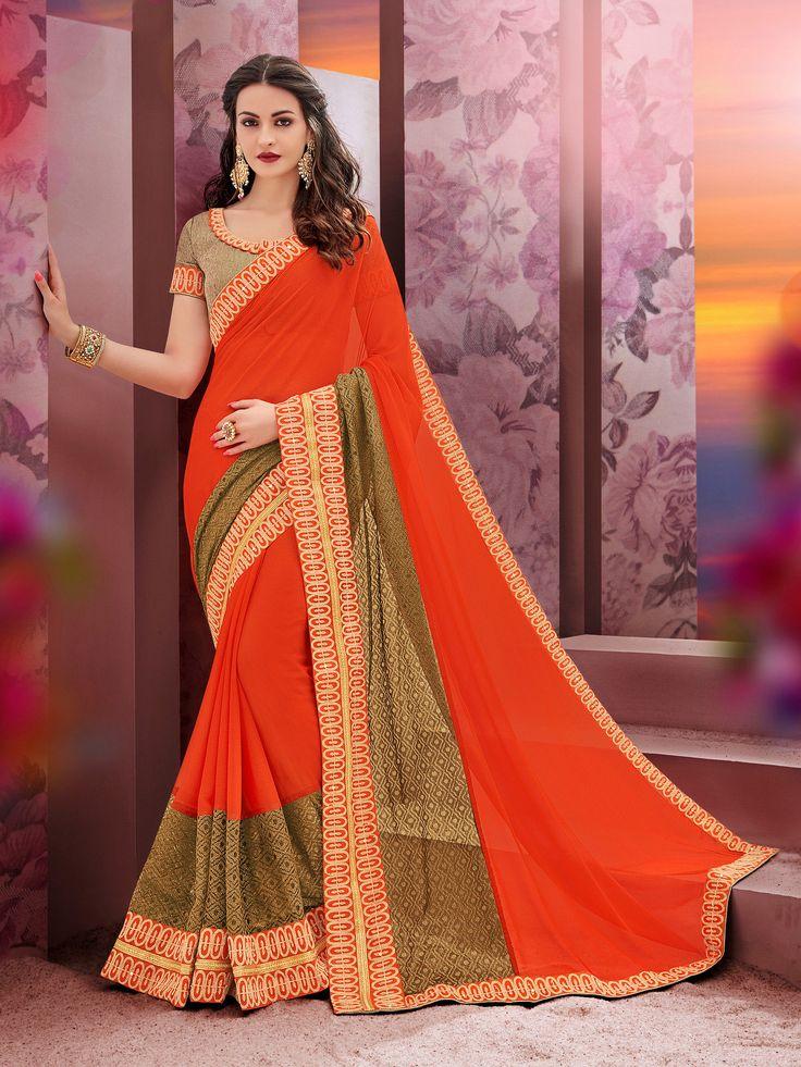 https://flic.kr/s/aHsm3KqiH7   KCRT_1928   Designer heavy work party wear saree collections...!!