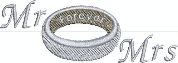 Mr and Mrs Forever  Digital Embroidery by EmbroideryDesignsBRN