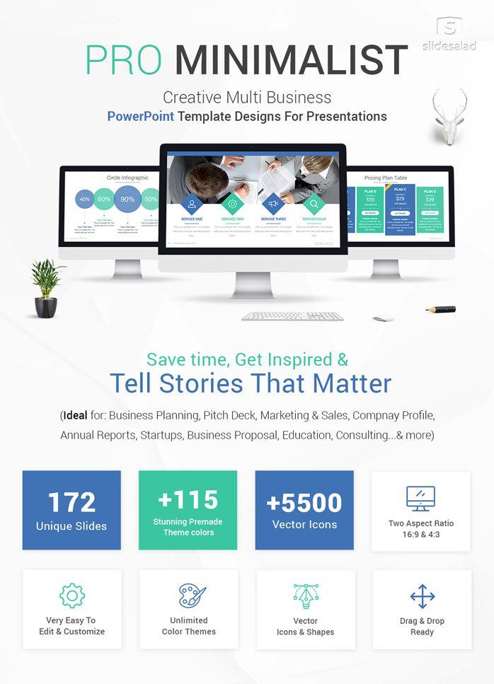 Pro Minimalist Powerpoint Template Designs Powerpoint Presentation