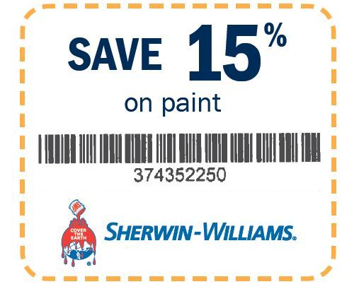 We reserve the right to accept, refuse, or limit the use of any coupon. Offer valid 12/1/18 – 12/29/ © The Sherwin-Williams Company **Special pricing valid on HGTV HOME™ by Sherwin-Williams .