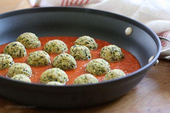 "Zucchini ""Meatballs""   Skinnytaste"