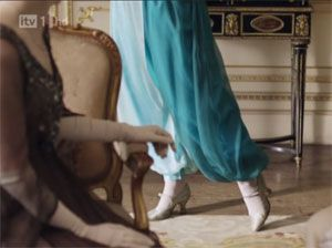 Lady Sybil's new pants on Downton Abbey Season 1 Episode 4