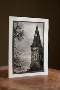 Card - Greeting - Photography Blank 5 x 7 Church Steeple $5.00