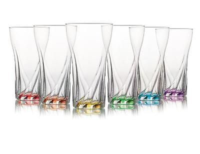 6 x set drinking multicoloured #highball 375cc water juice cocktail #glass #boxed,  View more on the LINK: 	http://www.zeppy.io/product/gb/2/122070091661/