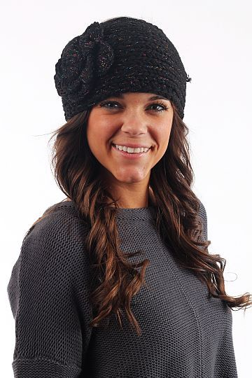 Crochet Headband, blk $16.00 This head band is the perfect Fall/Winter accessory! We love the crochet flower and the fact that you can adjust the fit!