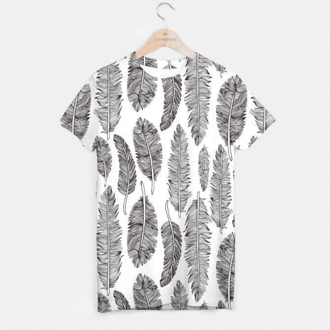 Feather pattern T-shirt