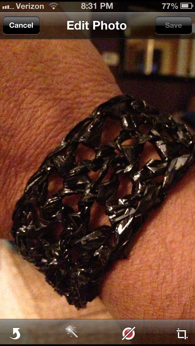 VCR tape bracelet