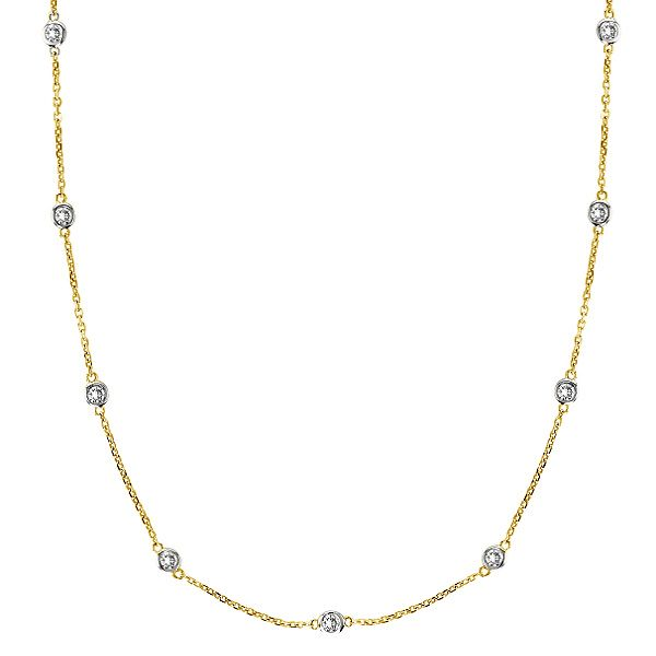 78 best Diamond Stationed Necklaces images on Pinterest