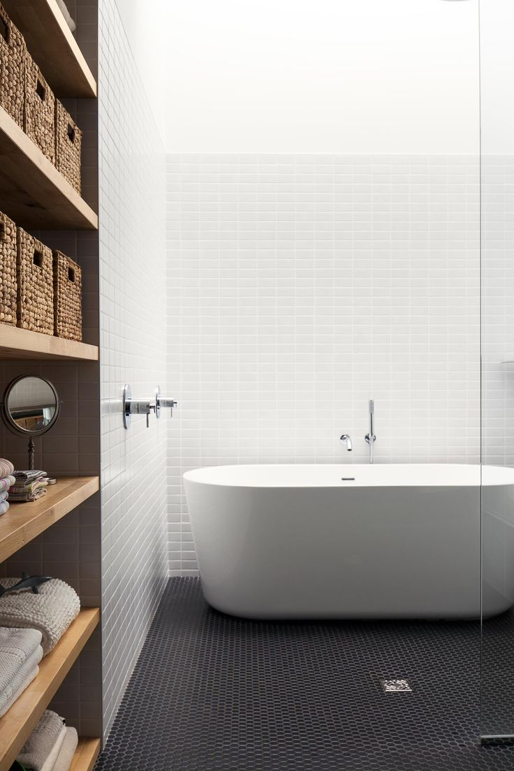 walk-n shower and stand alone tub Maison De Gaspé Family Home in Montreal | Gessato Blog