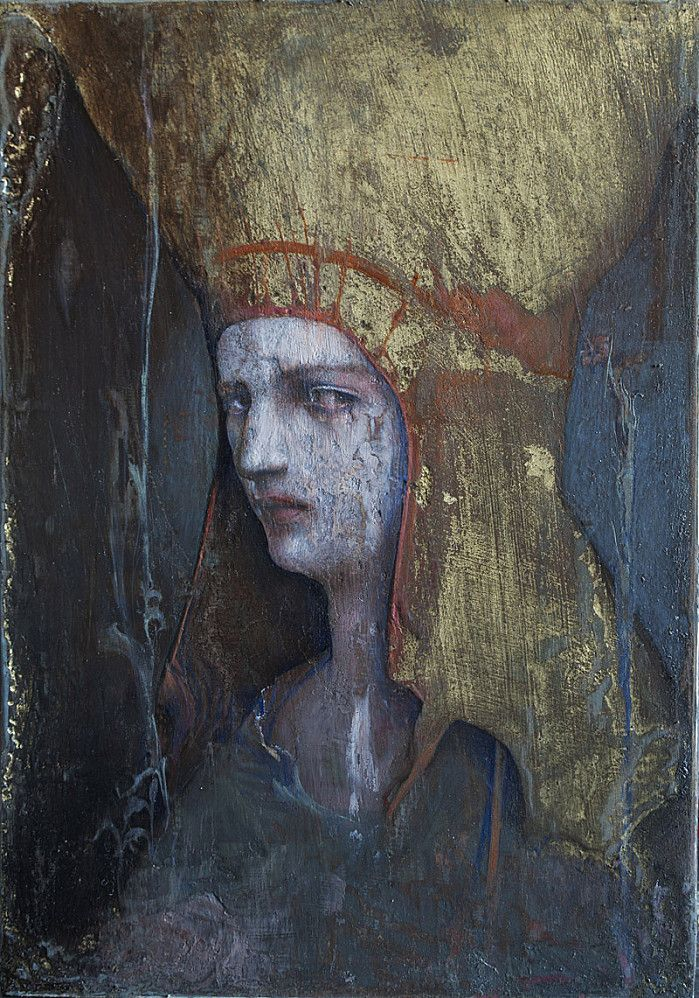 Agostino Arrivabene #gold #portrait #painting