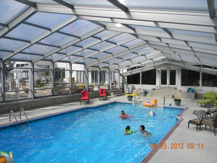 I Want Heated Pool Enclosure Go Swimming All Year Round