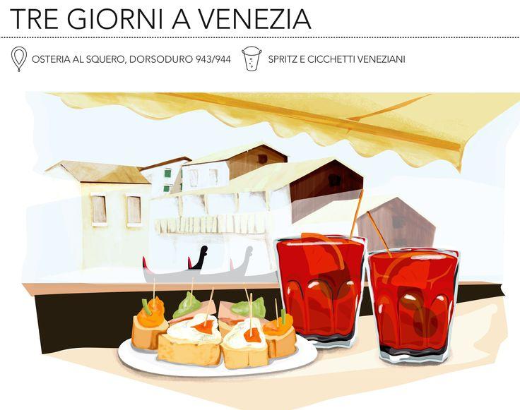 Osteria Al Squero  #spritz #Venice #Aperitivo #Squero #illustration #cicchetto #dovemangiare