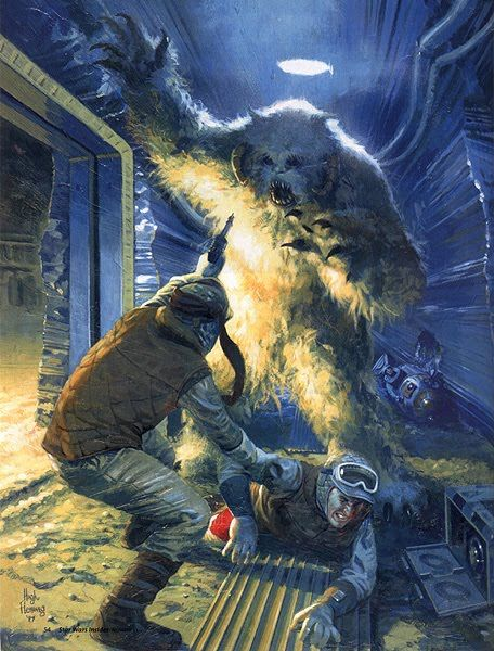 Originally Empire Strikes Back contained a sequence during the Hoth base attack in which a pack of Wampas got in and roamed around attacking both Rebels and invading Imperials alike.