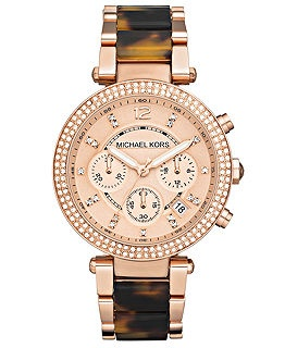 Michael Kors Womens Watches - Macy's  Rose gold and tortoise shell? Perfect.