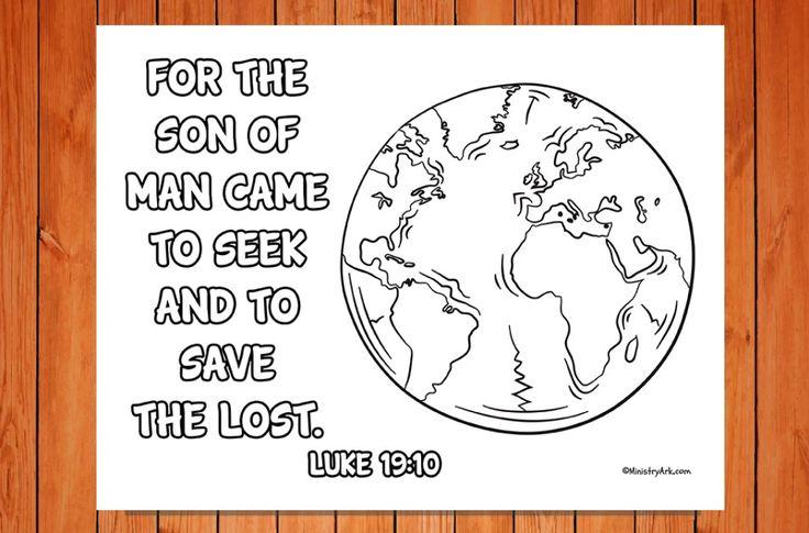 Seek And Save Printable Luke 19 10 Bible Time