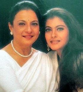 Tanuja with daughter Kajol