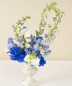 Blue delphinium wedding bouquets