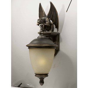 Love this for a front porch light.  Gargoyle <3!: Porches Lights, Gargoyles Lights, Hanging Lights, Lights Create, Gimme Lights, 538 20 Thoughts, Outdoor Lights, Front Porches, 53820 Thoughts