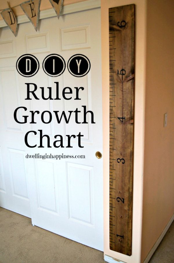 DIY Ruler Growth Chart - Dwelling In Happiness