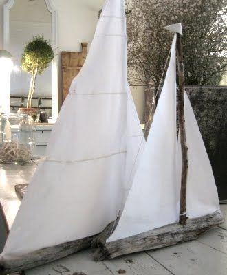 Driftwood boats...i love nautical stuff