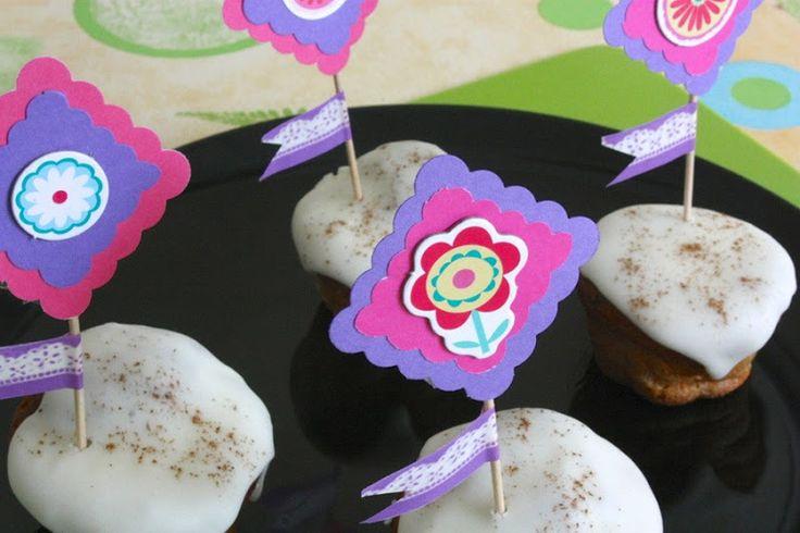 magdalenas de sandía con toppers primaverales