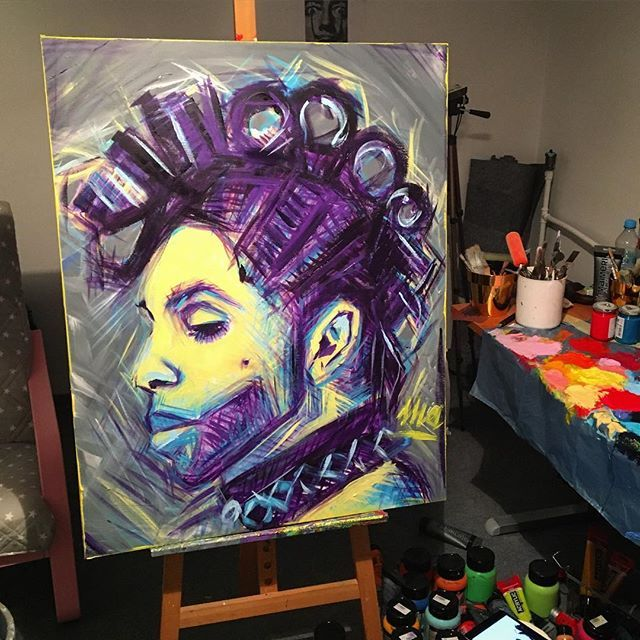 Prince / akryl 100x80 / #art #acrylicpainting #passion #work #exhibition #prince