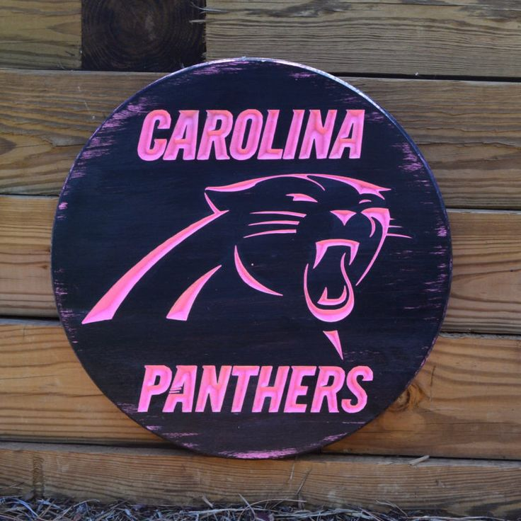 A personal favorite from my Etsy shop https://www.etsy.com/listing/264517290/charlotte-panthers-sign-pink-panthers