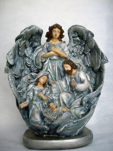Presépio - nas asas do anjo