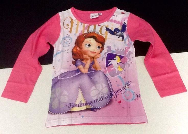 Maglietta manica lunga bambina PRINCIPESSA SOFIA Walt Disney 6 anni idea regalo