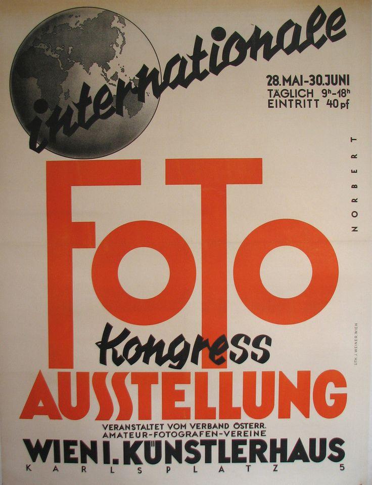 1930's Art Deco Vienna Austria Photography Exhibit Vintage #Poster