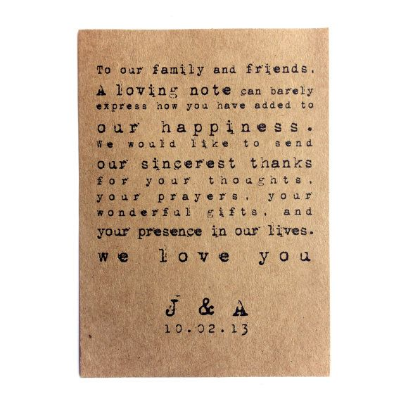 18 Best Wedding Thanks You Notes Images On Pinterest