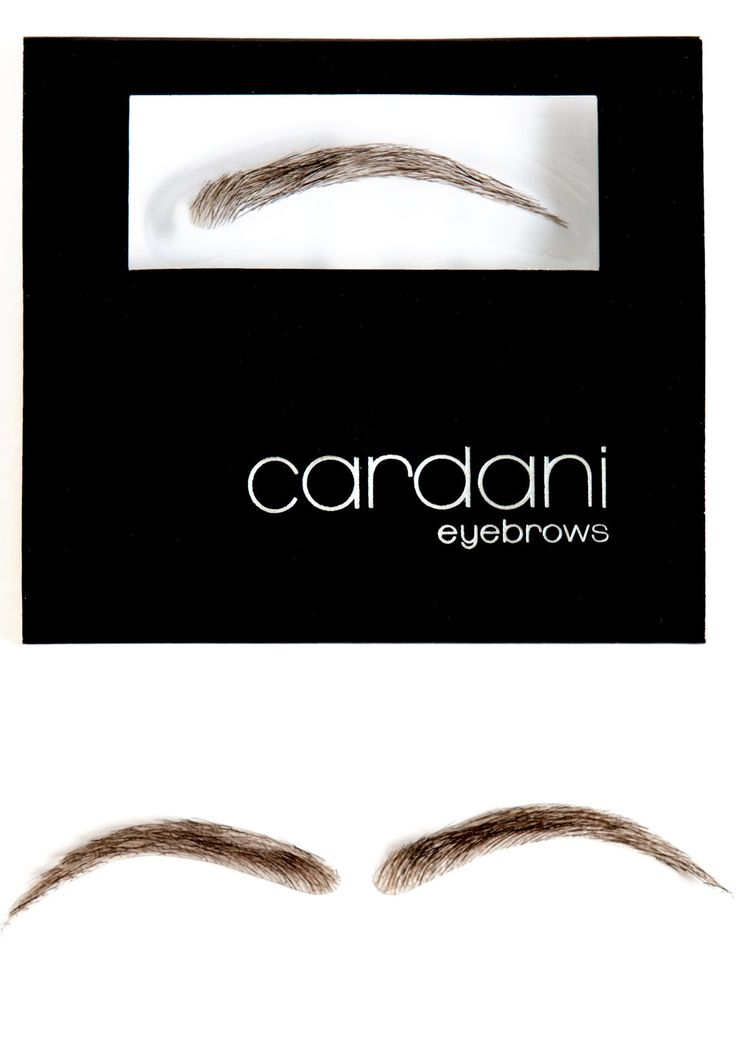 Cardani Human Hair False Eyebrows #15 - Stick On Eyebrow Wig. These fake eyebrows are so realistic.