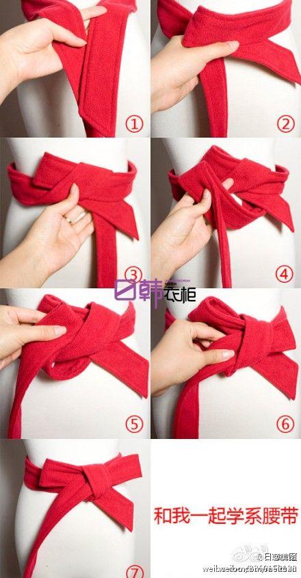 买了美美的大衣,却不知道怎么打漂亮的蝴蝶结腰带?快来学习吧~~秋冬到来 这个对我太实用了。